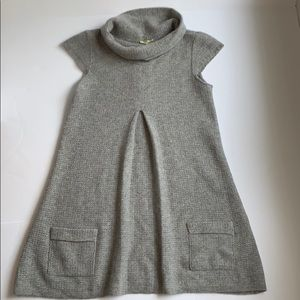 Cashmere sweater dress/tunic top, gray, size small